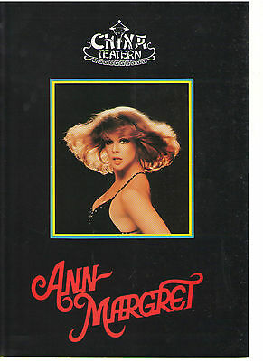 Ann Margret Sweden China Theatre Swedish History Abba Programme 1982 Rare