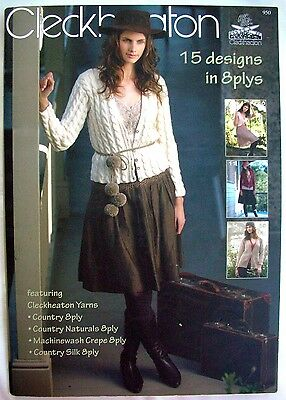 Cleckheaton Knitting Pattern Book 950 - HANDKNITS - 15 Designs in 8 Plys S-XL