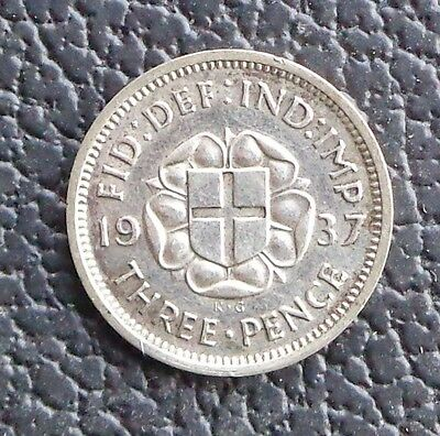 1937 George VI Proof - SILVER THREEPENCE Ref 296