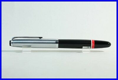 WHITE & RED ring Rotring Tintenkuli ACETOGRAPH fountain pen with STEEL cap