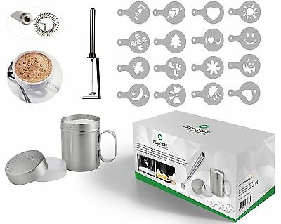 HLix CAFE - 20pcs Set With Portable Milk Frother / Cocktail Mixer / Egg Whisk Po
