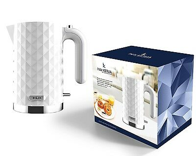 HLix KETLIA - White Diamond Cordless Electric Jug Kettle RAPID BOIL 3000W 1.5L W