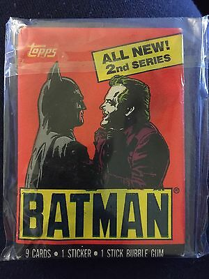 Topps Gum Featuring Batman, Brand New Sealed Unopened From 1989 DC Comics