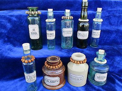 very old bottles magic wizard potions fantasy witch castle mystical wiccan