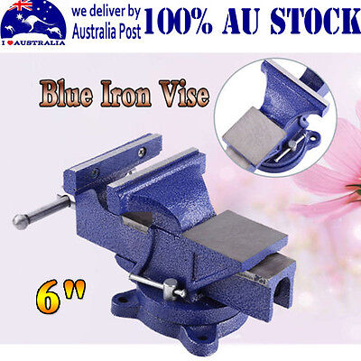 "6"" Blue Cast Iron Heavy Duty Vise Clamp Milling Metalworking Vice Workshop Tool"