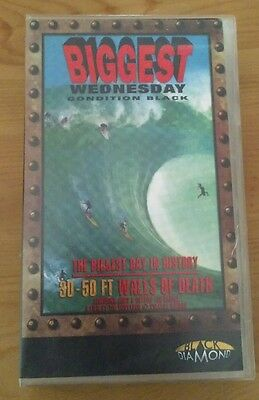 Biggest Wednesday condition black classic rare old Surfing VHS Video