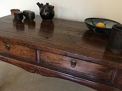 19th Century Chinese Elm Hall Table, Console Table