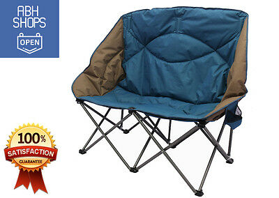 Double Folding Camp Chair Padded Durable Seat Beach Picnic with Carrying Bag New