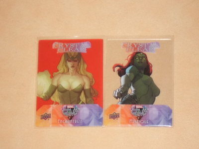 2016 Ud Marvel Gems Insert Crystal Clear Mystique+Red Enchantress Lot 2