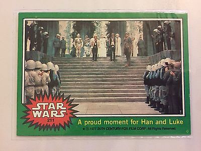 Scanlens Star Wars 1977 Non Sport Trading Card Proud Moment Han and Luke RARE