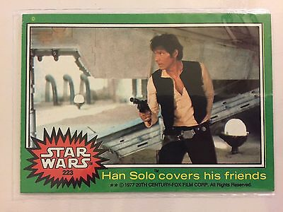 Scanlens Star Wars 1977 Non Sport Trading Card Han Solo Covers His Friends RARE