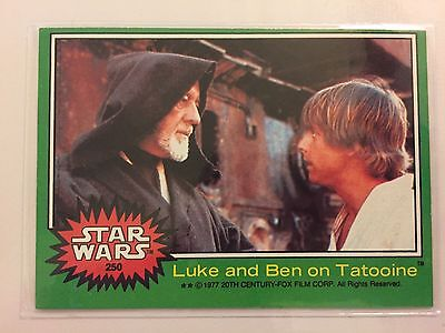 Scanlens Star Wars 1977 Non Sport Trading Card Luke And Ben On Tatooine RARE