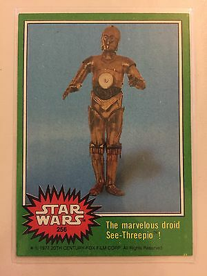 Scanlens Star Wars 1977 Trading Card The Marvellous Droid See-Threepio RARE