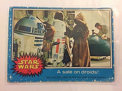 Scanlens Star Wars Trading Card 1977 - A Sale On Droids