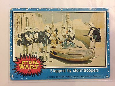 Scanlens Star Wars Trading Card 1977 - Stopped By Storm Troopers