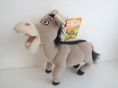 """SHREK 2 - 10"""" DONKEY SOFT TOY by PLAY by PLAY - WITH TAG"""