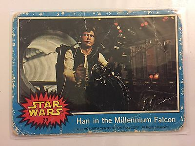 Scanlens Star Wars Trading Card 1977 - Han In The Millennium Falcon