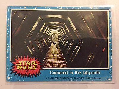 Scanlens Star Wars Trading Card 1977 - Cornered In The Labyrinth