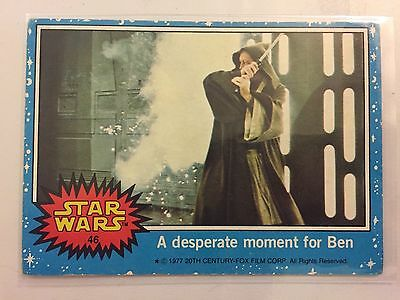 Scanlens Star Wars Trading Card 1977 - A Desperate Moment For Ben