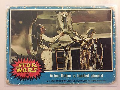 Scanlens Star Wars Trading Card 1977 - Artoo-Detoo Is Loaded Aboard