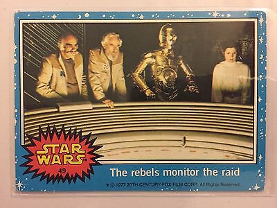 Scanlens Star Wars Trading Card 1977 - The Rebels Monitor The Raid