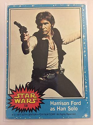Scanlens Star Wars Trading Card 1977 - Harrison Ford As Han Solo