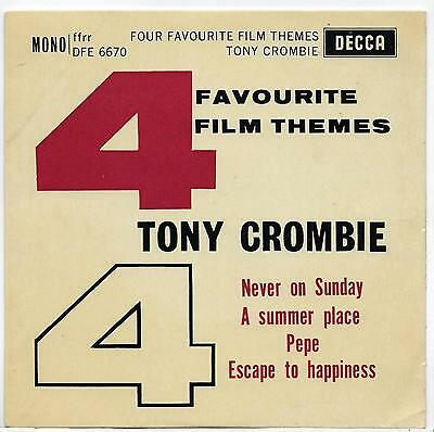"Tony Crombie -  Four Favourite Film Themes - EP - 7"" Single"