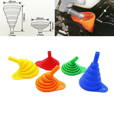 Most Motorcycle Silicone Foldable Collapsible Oil funnel Oil Changing For KTM