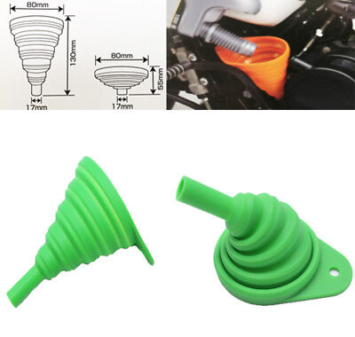 Green Motorcycle Silicone Foldable Collapsible Oil funnel Oil Changing For Honda