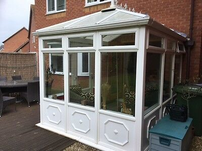 Used white PVC conservatory