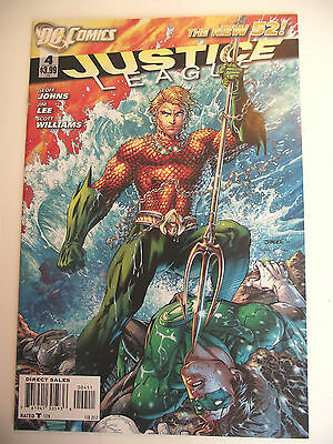 New 52 Justice League #4 NM Aquaman Jim Lee