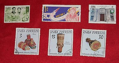 Caribbean Stamps x 6
