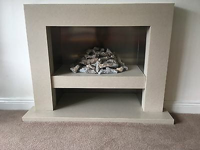 The Brilliant Slab Gas Fire and Fireplace Surround