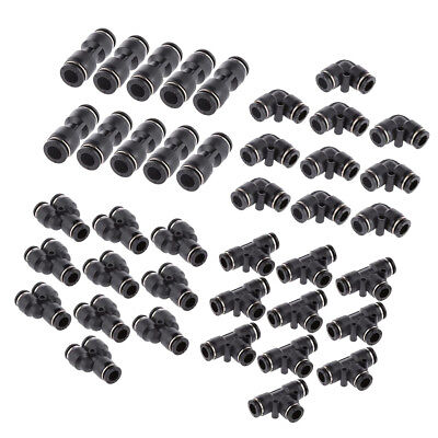 40pcs 5/16'' 8mm Air Line Hose Quick Fittings Connector Coupler Release Ring