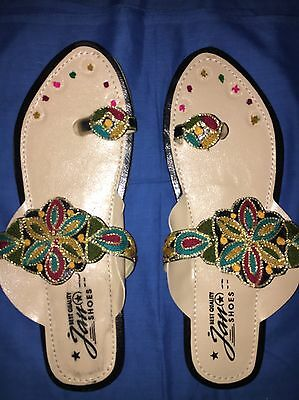 Asian Pakistani/ Indian Colourful Sandals (size 5)