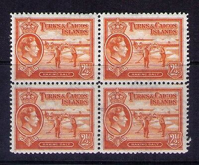 Turks And Caicos Stamps Sc# 83 Mnh Block Of 4