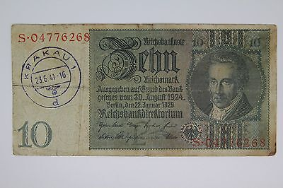 Germany WWII/WW2 banknote