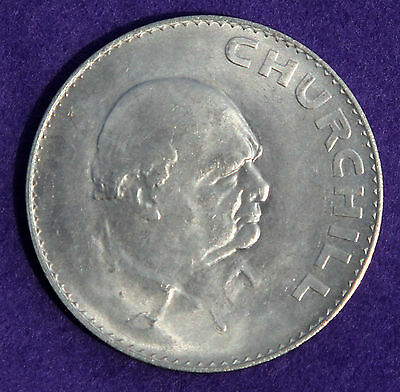 Uncirculated Pre Decimal British Commemorative 1965 Churchill Crown Coin
