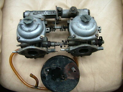 Twin Zenith Stromberg 125CD Carbs & Inlet Manifold A Series Mini Etc.