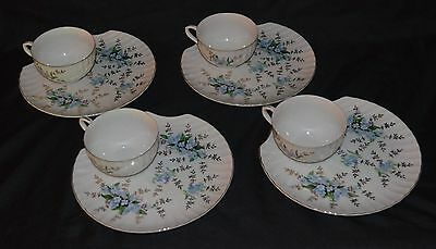 Vintage Yamaka China Tea Cup & Scallop Snack Plate - Set Of 4 - Nice!!!