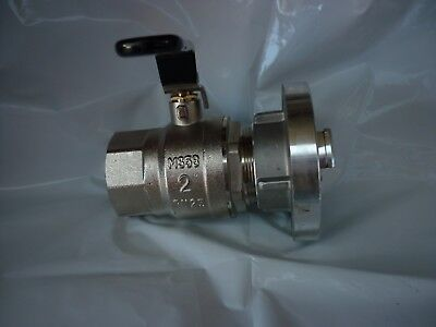 "Storz 65 Fitting & 2"" (50)Brass Ball Valve - Static water supply tank  fire pump"