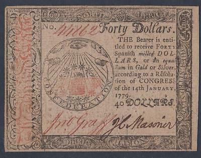 CC-95 *** PMG XF45 EPQ ***  $40.00 Jan. 14, 1779 Continental Colonial Currency