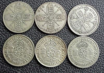 1920 -1946 George V - Geroge VI Silver Florins / Two Shillings Choice of Date