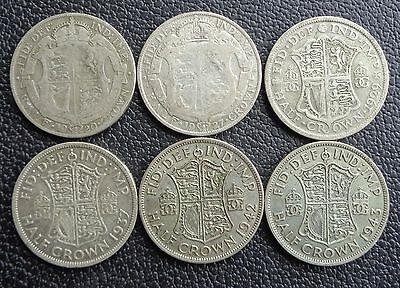 1920 To 1946 George V - George Vi Silver Half Crown Choice Of Year