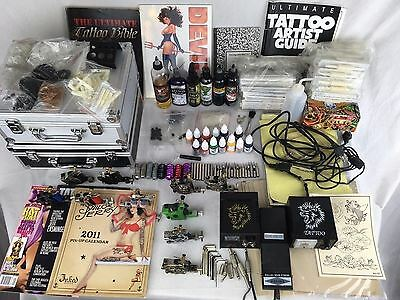 Huge Lot Of Tattoo Equipment For Starting Artists Guides Ink accs & Much More
