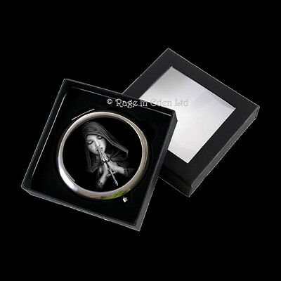 *GOTHIC PRAYER* Anne Stokes Goth Fantasy Angel Art Compact Mirror (7cm)