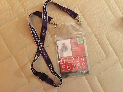 Lanyard + Pass Psg - Lyon Final 2017 Women Uefa Champions League