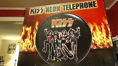 Kiss Destroyer Neon Telephone New In Box Plays Music Gene Simmons - Paul Stanley