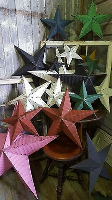 Amish 12 inch tin barn star