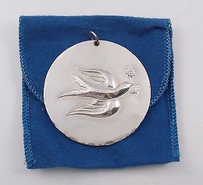 Vintage 1971 Towle Sterling Silver 12 Days of Christmas Dove Partridge Ornament